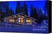Cabin Window Canvas Prints - Ski Hut Glacier Point Canvas Print by Jim and Emily Bush