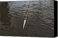 Rowers Canvas Prints - Skimming the Waters Canvas Print by Douglas Barnard