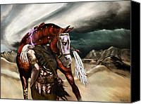 Storm Digital Art Canvas Prints - Skin Horse Canvas Print by Mandem  