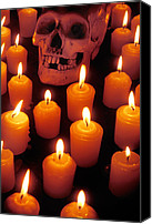 Magic Canvas Prints - Skull and candles Canvas Print by Garry Gay