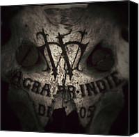 Featured Canvas Prints - Skull Canvas Print by Dave Edens