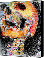 Jon Baldwin Art Canvas Prints - Skull  Canvas Print by Jon Baldwin  Art