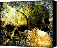 Goth Mixed Media Canvas Prints - Skull of the Vampire Canvas Print by Bob Orsillo