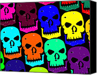 Creepy Digital Art Canvas Prints - Skulls Canvas Print by Jame Hayes