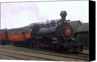 Baldwin Canvas Prints - Skunk Train No 45 Fort Bragg California Canvas Print by Brian Lockett