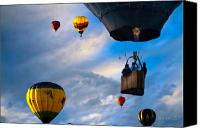 Festival Canvas Prints - Sky Caravan Hot Air Balloons Canvas Print by Bob Orsillo