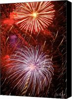 4th July Digital Art Canvas Prints - Sky Explosion Canvas Print by Phill  Doherty
