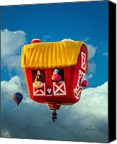 Hot Air Canvas Prints - Sky Farming  Canvas Print by Bob Orsillo