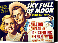 1950s Poster Art Canvas Prints - Sky Full Of Moon, Jan Sterling Canvas Print by Everett