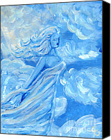 Clouds Sculpture Canvas Prints - Sky Goddess Canvas Print by Cassandra Geernaert