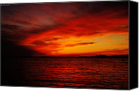 Eavning Canvas Prints - Sky in flames Canvas Print by Yuriy Klimanov