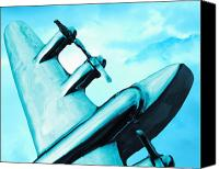 Jet Canvas Prints - Sky Plane Canvas Print by Slade Roberts