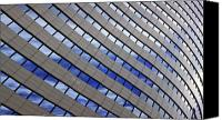 Abstract Building Canvas Prints - Sky Reflections Canvas Print by Mike Reid