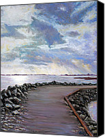 Storm Pastels Canvas Prints - Sky Shore A Canvas Print by Bob Northway