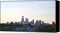Philadelphia Skyline Canvas Prints - Skyline View of Philadelphia Canvas Print by Bill Cannon