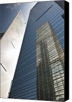 Sparse Canvas Prints - Skyscraper reflection Canvas Print by Jacobs Stock Photography