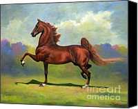 American Saddlebred Art Canvas Prints - Skywatch Canvas Print by Jeanne Newton Schoborg