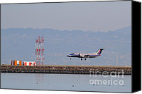 Airways Canvas Prints - Skywest Airlines Jet Airplane At San Francisco International Airport SFO . 7D12127 Canvas Print by Wingsdomain Art and Photography