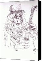 Slash Drawings Canvas Prints - Slash - Solo Canvas Print by Bobby LeVangie