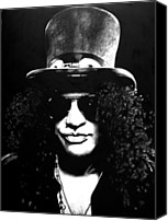 Slash Drawings Canvas Prints - Slash Canvas Print by Brian Curran