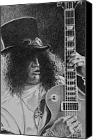 Slash Drawings Canvas Prints - Slash Canvas Print by Ryan Hill