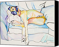 Great Dane Canvas Prints - Sleeping Beauty Canvas Print by Pat Saunders-White            