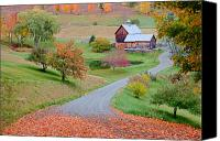 Sleepy Hollow Canvas Prints - Sleepy Hollow Farm Autumn Vermont Canvas Print by Binh Ly
