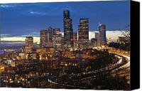 Seattle Skyline Canvas Prints - Sleepy in Seattle Canvas Print by Richard Heath