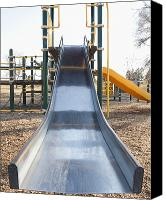 Playground Equipment Canvas Prints - Slide and Playground Equipment Canvas Print by Thom Gourley/Flatbread Images, LLC