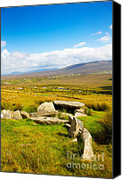 Achill Island Canvas Prints - Slievemore dolmen Canvas Print by Gabriela Insuratelu
