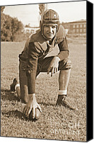Redskins Canvas Prints - Slingin Sammy Baugh 1937 Sepia Canvas Print by Padre Art