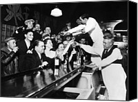 1930s Canvas Prints - Sloppy Joes Bar, In Downtown Chicago Canvas Print by Everett