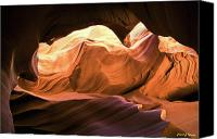 Cavern Canvas Prints - Slot Canyon Cavern Canvas Print by Frank Wicker