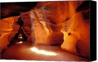 Curves Canvas Prints - Slot canyon warm light Canvas Print by Garry Gay