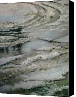 Wet Pastels Canvas Prints - Slush Canvas Print by Bob Naramore