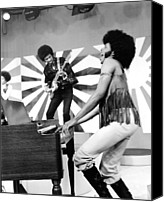 Singing Canvas Prints - Sly And The Family Stone Performing Canvas Print by Everett