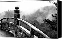 Miyajima Canvas Prints - Small Bridge Canvas Print by Thomas Pesce