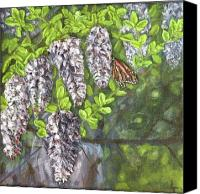 Trees Reliefs Canvas Prints - Smell the Moutain Laurel Canvas Print by Lorrie T Dunks