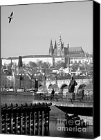 Vltava Canvas Prints - Smetanas Vltava Canvas Print by Keiko Richter