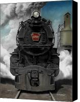 Locomotive Canvas Prints - Smoke and Steam Canvas Print by David Mittner