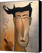 Fidostudio Canvas Prints - Smoke Break Canvas Print by Tom Fedro - Fidostudio