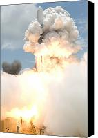 Billows Canvas Prints - Smoke Envelops The Delta Ii Rocket Canvas Print by Stocktrek Images