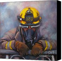 Fire Fighter Canvas Prints - Smoke Jumper 126 Canvas Print by Pat Burns