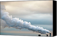 Factory Photo Canvas Prints - Smoking In The Clouds Canvas Print by Jane Kerrigan