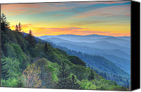 Mary Anne Baker Canvas Prints - Smoky Mountain Morning Splendor Canvas Print by Mary Anne Baker