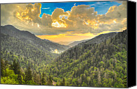 Mary Anne Baker Canvas Prints - Smoky Mountain Sunburst Canvas Print by Mary Anne Baker