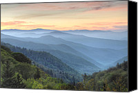 Mary Anne Baker Canvas Prints - Smoky Mountain Sunrise Canvas Print by Mary Anne Baker