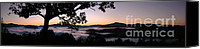 Daybreak Canvas Prints - Smoky Mountain Sunrise Panorama Canvas Print by Matt Tilghman