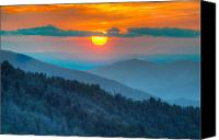 Mary Anne Baker Canvas Prints - Smoky Mountain Sunset Canvas Print by Mary Anne Baker