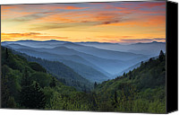 Appalachia Photo Canvas Prints - Smoky Mountains Sunrise - Great Smoky Mountains National Park Canvas Print by Dave Allen